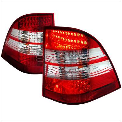 Spec-D - Mercedes-Benz ML Spec-D LED Taillight - Red & Clear - LT-BW16398RLED-APC