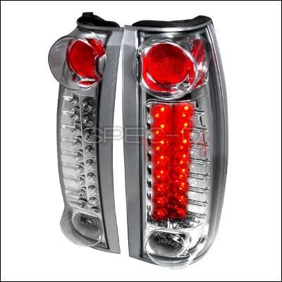 Spec-D - Chevrolet C10 Spec-D LED Taillights - Chrome - LT-C1088CLED-TM
