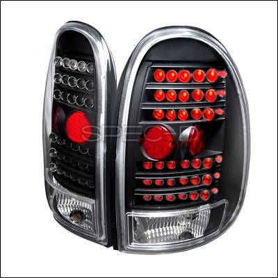 Spec-D - Dodge Caravan Spec-D LED Taillights - Black - LT-CAR96JMLED-KS