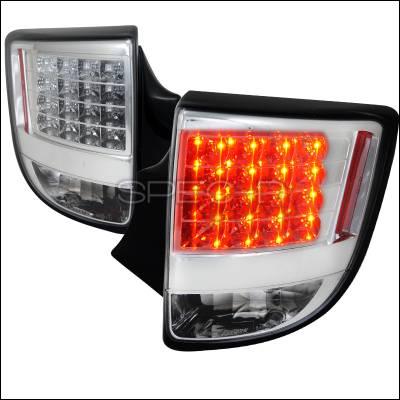 Spec-D - Toyota Celica Spec-D Chrome LED Taillights - LT-CEL00CLED-TM