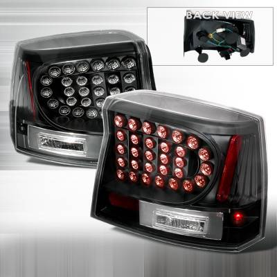 Spec-D - Dodge Charger Spec-D LED Taillights - Black - LT-CHG05JMLED-KS
