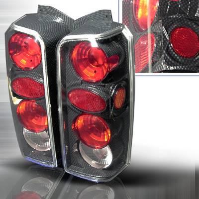 Spec-D - Jeep Cherokee Spec-D Altezza Taillights - Chrome - LT-CHKE97CF-KS