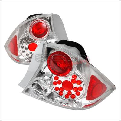 Spec-D - Honda Civic 2DR Spec-D LED Taillights - Chrome - LT-CV012CLED-KS