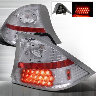Spec-D - Honda Civic 2DR Spec-D LED Taillights - Chrome - LT-CV012CLED-WJ