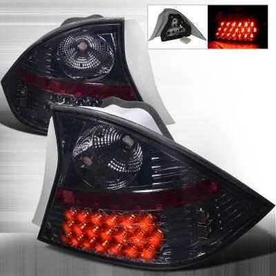 Spec-D - Honda Civic 2DR Spec-D LED Taillights - Smoke - LT-CV012GLED-WJ