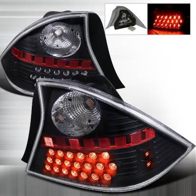 Spec-D - Honda Civic 2DR Spec-D LED Taillights - Black - LT-CV012JMLED-WJ