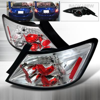 Spec-D - Honda Civic 2DR Spec-D Altezza Taillights - Chrome - LT-CV062-TM