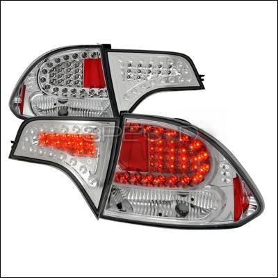 Spec-D - Honda Civic 4DR Spec-D LED Taillights - Chrome - LT-CV064CLED-KS