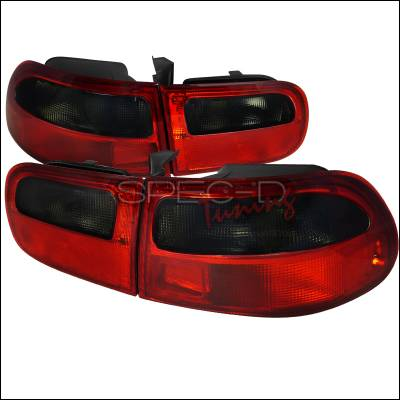 Spec-D - Honda Civic HB Spec-D Taillights - Red & Clear - LT-CV923RG-RS
