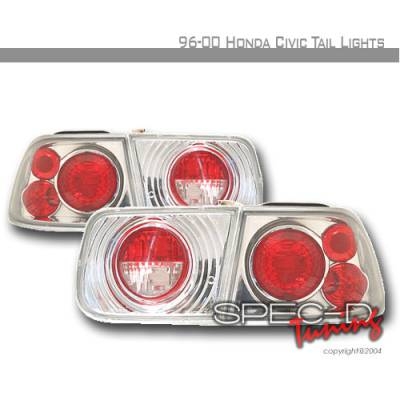 Spec-D - Honda Civic 2DR Spec-D Altezza Taillights - Chrome - LT-CV962-KS