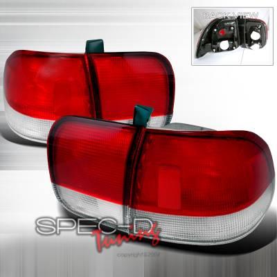 Spec-D - Honda Civic 4DR Spec-D Taillights - Red & Clear - LT-CV964RPW-DP