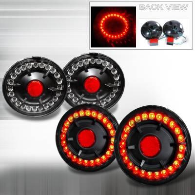 Spec-D - Chevrolet Corvette Spec-D LED Taillights - Black - LT-CVET05JMLED-KS