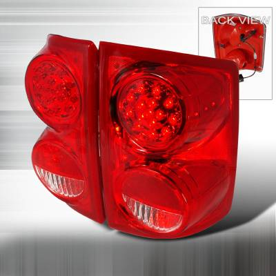 Spec-D - Dodge Dakota Spec-D LED Taillights - Red - LT-DAK05RLED-KS