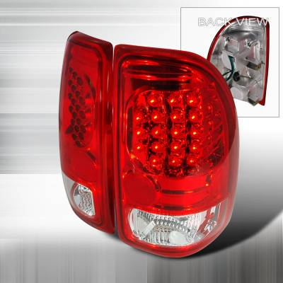 Spec-D - Dodge Dakota Spec-D LED Taillights - Red - LT-DAK97RLED-KS