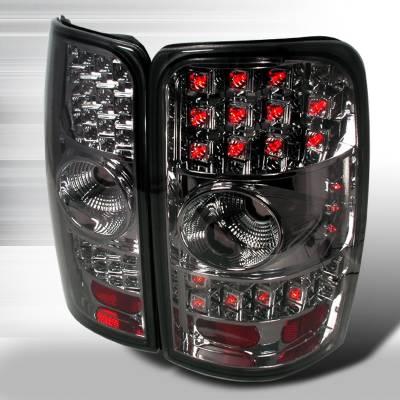 Spec-D - GMC Denali Spec-D LED Taillights - Chrome with Smoke Lens - LT-DEN00CGLED-WJ
