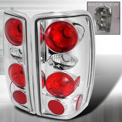 Spec-D - Chevrolet Tahoe Spec-D Altezza Taillights - Chrome - LT-DEN00-KS