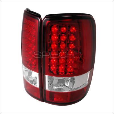 Spec-D - GMC Denali Spec-D LED Taillights - Red - LT-DEN00RLED-TM