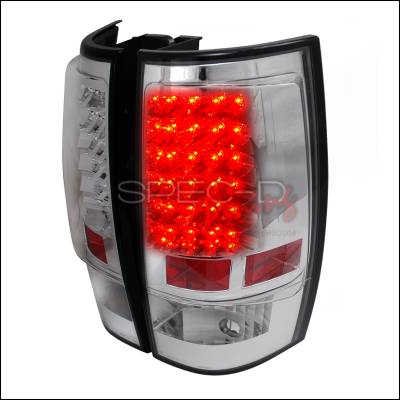 Spec-D - Chevrolet Tahoe Spec-D LED Taillights - Chrome - LT-DEN07CLED-TM