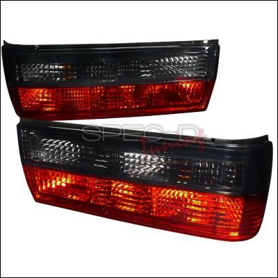 Spec-D - BMW 3 Series Spec-D Euro Tailights - Red & Smoked - LT-E30884RG-APC