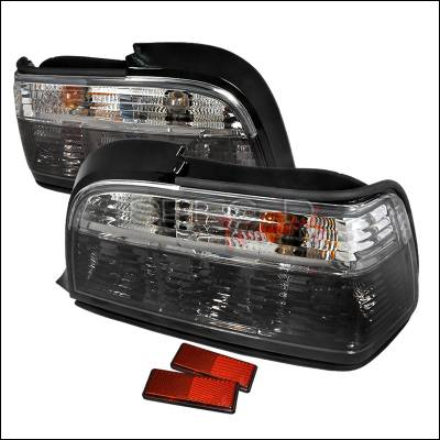 Spec-D - BMW 3 Series 2DR Spec-D Altezza Taillights - Chrome - LT-E362GPW-APC