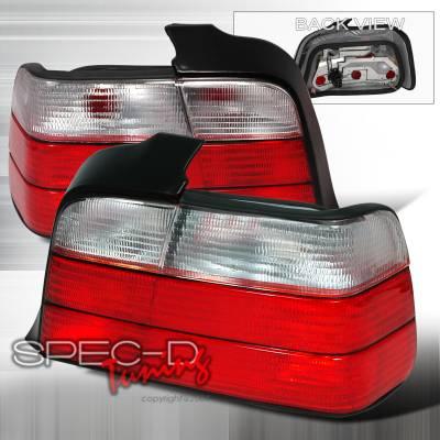 Spec-D - BMW 3 Series 4DR Spec-D Altezza Taillights - Red & Clear - LT-E364RPW-KS