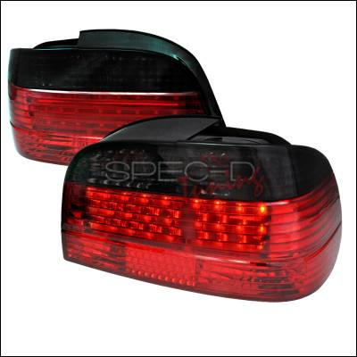 Spec-D - BMW 7 Series Spec-D Fiber Optic LED Taillights - Red & Smoke - LT-E384RG-F2-APC