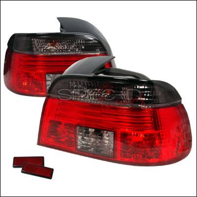 Spec-D - BMW 5 Series Spec-D Altezza Taillights - Smoke - LT-E394G-APC