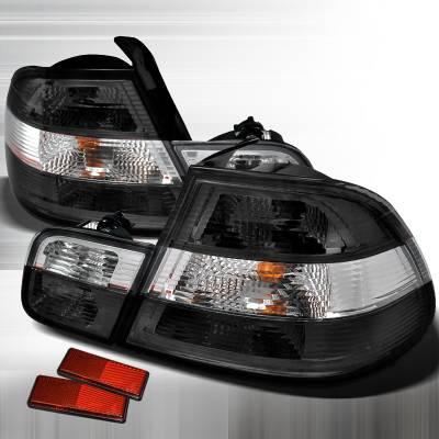 Spec-D - BMW 3 Series 2DR Spec-D Altezza Taillights - Chrome - LT-E462GPW-APC