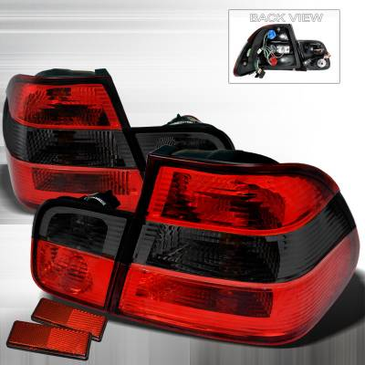 Spec-D - BMW 3 Series 4DR Spec-D Altezza Taillights - Red & Smoke - LT-E464RG-APC
