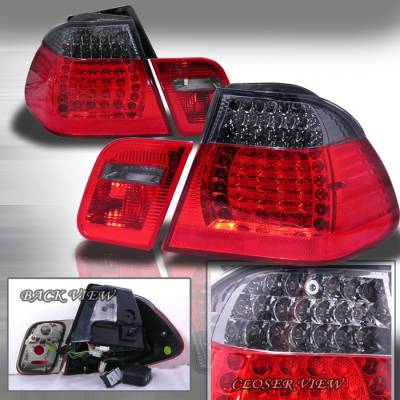 Spec-D - BMW 3 Series 4DR Spec-D Altezza Taillights - Smoke - LT-E46994G-APC