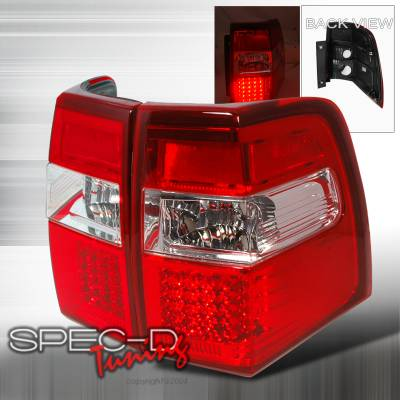 Spec-D - Ford Expedition Spec-D LED Taillights - Red - LT-EPED07RLED-KS
