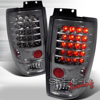 Spec-D - Ford Expedition Spec-D LED Taillights - Smoke - LT-EPED97GLED-KS