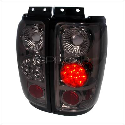 Spec-D - Ford Expedition Spec-D LED Taillights - Smoke - LT-EPED97GLED-TM