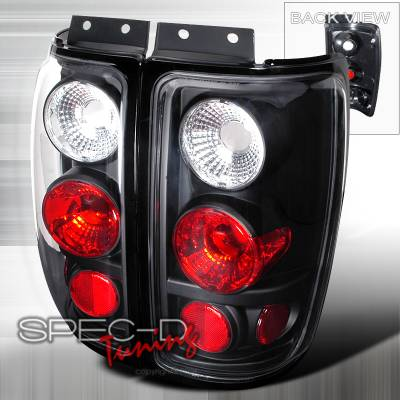 Spec-D - Ford Expedition Spec-D Altezza Taillights - Black - LT-EPED97JM-TM