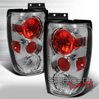 Spec-D - Ford Expedition Spec-D Altezza Taillights - Chrome - LT-EPED97-KS
