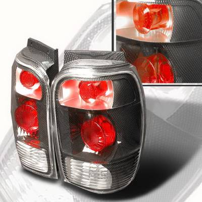 Spec-D - Ford Explorer Spec-D Altezza Taillights - Chrome - LT-EPOR98CF-KS