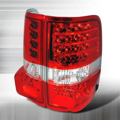 Spec-D - Ford F150 Spec-D LED Taillights - Red - LT-F15004RLED-KS