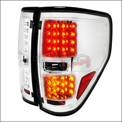 Spec-D - Ford F150 Spec-D LED Taillights - Chrome - LT-F15009CLED-TM