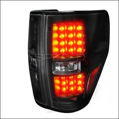 Spec-D - Ford F150 Spec-D LED Taillights - Black - LT-F15009JMLED-TM