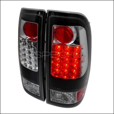Spec-D - Ford F350 Spec-D LED Taillights - Black - LT-F15097JMLED-TM