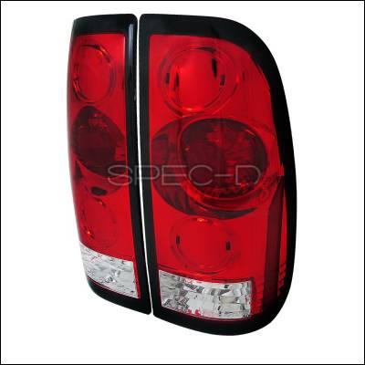 Spec-D - Ford F150 Spec-D LED Taillights - Red & Clear - LT-F15097RPW-APC