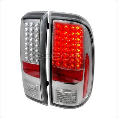 Spec-D - Ford F250 Spec-D LED Taillights - Chrome - LT-F25008CLED-KS
