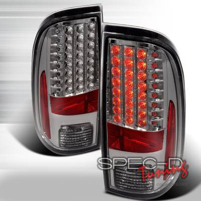 Spec-D - Ford F250 Spec-D LED Taillights - Smoke - LT-F25008GLED-KS