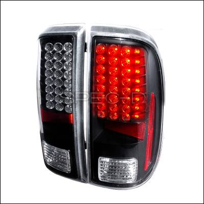 Spec-D - Ford F250 Spec-D LED Taillights - Black - LT-F25008JMLED-KS