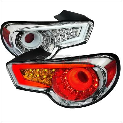 Spec-D - Scion FRS Spec-D LED Taillights - Chrome - LT-FRS12CLED-TM