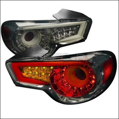 Spec-D - Scion FRS Spec-D LED Taillights - Smoke - LT-FRS12GLED-TM
