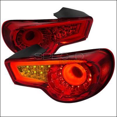 Spec-D - Scion FRS Spec-D LED Taillights - Red - LT-FRS12RLED-TM