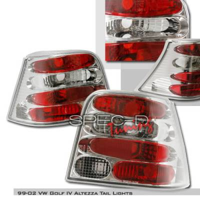 Spec-D - Volkswagen Golf Spec-D Altezza Taillights - Chrome - LT-GLF99-KS