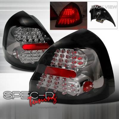 Spec-D - Pontiac Grand Prix Spec-D LED Taillights - Smoke - LT-GPX04GLED-KS
