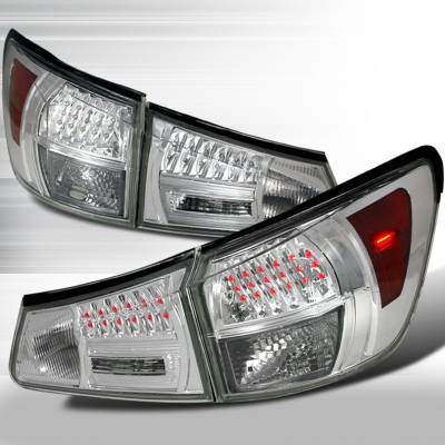 Spec-D - Lexus IS Spec-D LED Taillights - Chrome - LT-IS35006CLED-KS